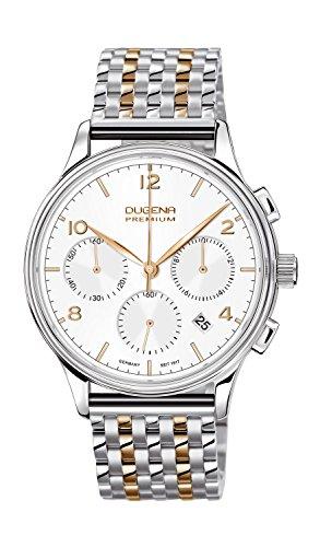 Dugena Herren-Armbanduhr Minor Chronograph - Traditional Classic Analog Quarz Edelstahl beschichtet 7090242