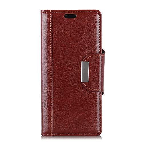 BRAND SET Hülle für HTC Desire 12S Brieftasche Handyhülle Kunstleder Flip Hülle mit sicherer Magnetverschlussverriegelung & Stent-Funktion,geeignet für HTC Desire 12S (Braun)