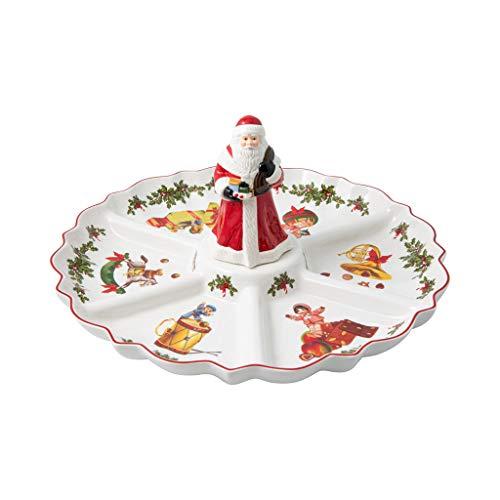 Villeroy & Boch - Toy\'s Fantasy Kabarett Santa-Figur, Servierteller aus Premium Porzellan, 38 x 38 x 19 cm, rund, bunt