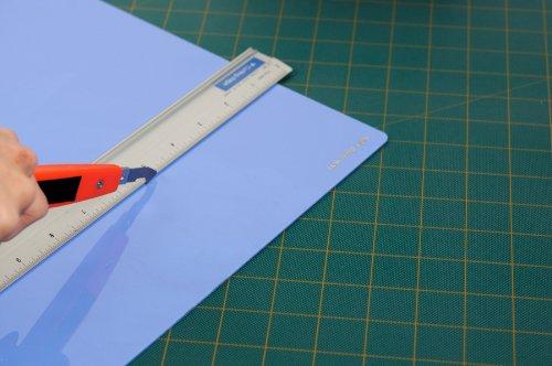 NT Cutter Multi-Use Plastic plexiglass Cutter with Plastic Cutting Blade and Precision Knife Blade, 1 Cutter (M-500P)
