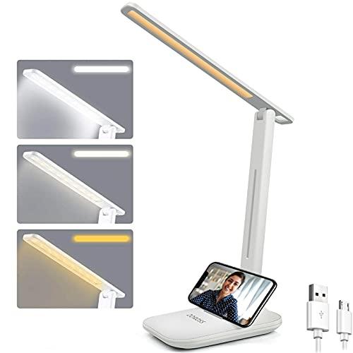Lampada da scrivania a LED, lampada da tavolo protezione degli occhi, dimmerabile, touch Control,con...