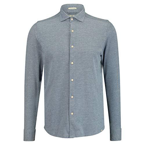 DSTREZZED Slim-Fit Hemd mit Haifisch-Kragen blau (625 Blue) XXL