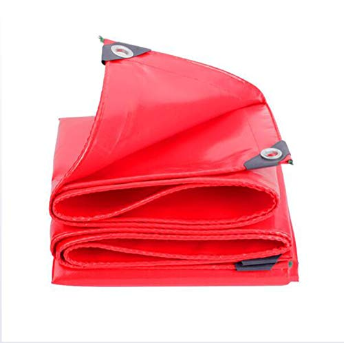 Home warehouse Tela de raspado de cuchillo rojo, lona gruesa de protección solar, lona resistente a la lluvia, lona resistente al desgaste, parasol, toldo ultraligero para exteriores, 5 x 7 m