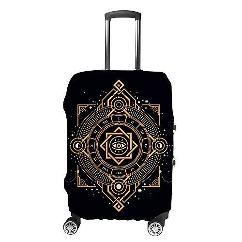 Ruchen - Funda Protectora para Maleta, diseño de símbolo Sagrado, Color Dorado