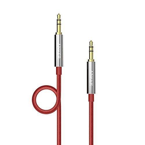 Anker-a71130911.2m 3.5mm 3.5mm Rot–Audio-Kabel (3.5mm, Männlich, 3.5mm, männlich, gerade, gerade)