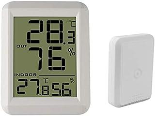 hkwshop Higrómetro para Interior Termómetro Digital para Exteriores Termómetro Digital Higrómetro Monitor de Temperatura i...