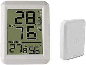 Xu Yuan Jia-Shop Termómetro Higrómetro Termómetro Digital para Exteriores Termómetro Digital Higrómetro Monitor de Temperatura inalámbrico Digital Termohigrómetro (Color : White)