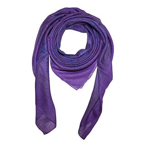 Superfreak® Baumwolltuch Indisches Muster 1 - Tuch - Schal - 100x100 cm - 100% Baumwolle Farbe: lila