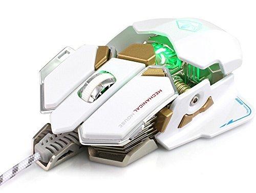 Desconocido SUMLINK 4000 dpi Mouse Alámbrico USB Profesional para Juegos con 10...