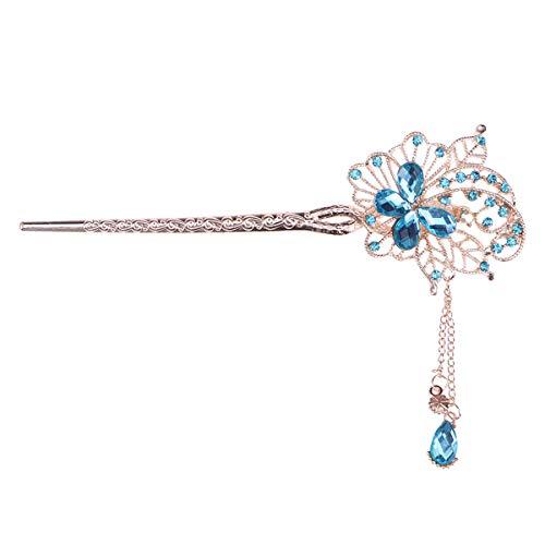 Lurrose Tocado de la boda del accesorio de la venda del palillo...