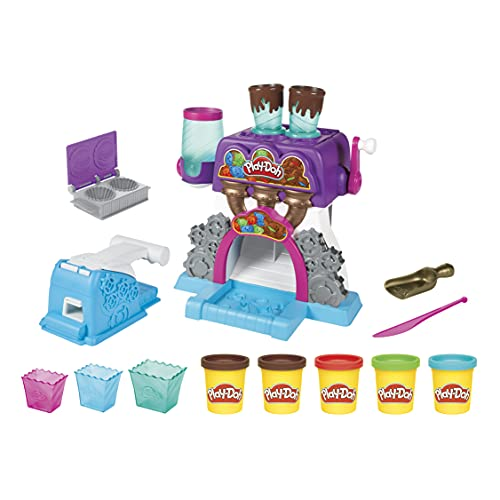 Play-Doh Kitchen Creations Candy Delight Playset for Kids 3 Years and Up with 5 Cans, Non-Toxic, Multi color