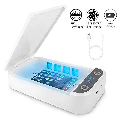 UV Lampe Desinfektion Desinfektionsmittel Aromatherapie UV Desinfektionsbox Tragbare UV Sterilisatorbox Desinfektor UV-Licht Telefonreiniger mit USB-Aufladung für Smartphones,Schmuck,Uhr,Schnuller