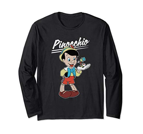 Disney Pinocchio and Jiminy Cricket Langarmshirt