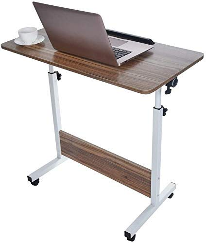 N/Z Daily Equipment Kids Desk and Chair Set Study Table Laptop Desk Cart Adjustable Small Rolling Desk Table Bed Side Table for Home Office Height Adjustable Desk for Study