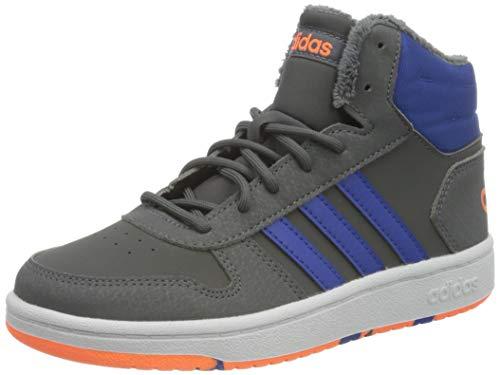 adidas Unisex barn Hoops Mid 2,0 K sneakers, flerfärgad - Flerfärgad Gricin Azurea Narsen - 34 EU