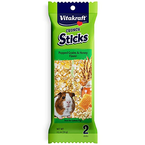 Vitakraft Guinea Pig Popped Grains & Honey Treat Sticks 2 Pack, 2.5 Ounce