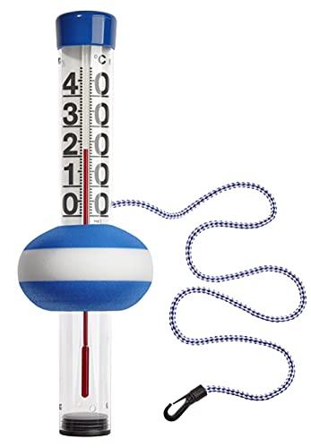 TFA Dostmann Schwimmbadthermometer Neptun, 40.2003, für Pool und Teich, bequemes Ablesen der Wassertemperatur, groß, gut ablesbar