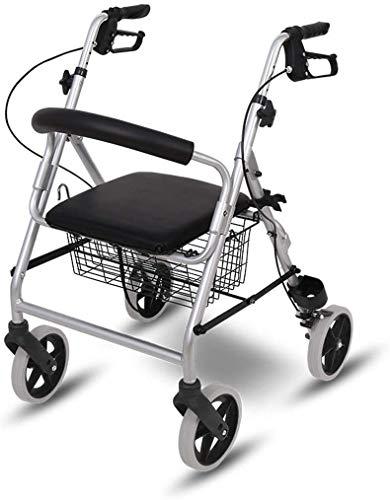 PXY M de Caminata, Andador de Rollator con Asiento Y Ruedas, Caminantes Portátiles Plegables para Personas Mayores, Movilidad Médica para Caminar, Andador con Cesta de Alenamiento de Gran Capacidad,