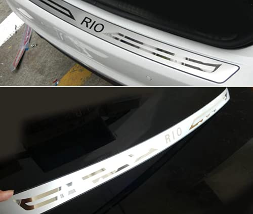 Protección del Borde de Carga de Acero Inoxidable para KIA RIO 2012-2015, Maletero Protección para parachoques de coche resistentea los arañazos