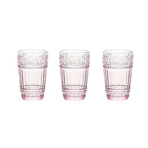 Yuansr Vidrio sin Plomo de Taza de Highball de Alta Base Transparente, Gafas de Agua para Jugo, Cerveza, Vino, Whisky y cócteles |11.8 onzas de Vidrio (Size : Style 1)