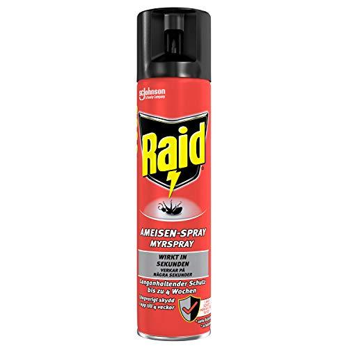 Raid Paral Ameisen-Spray, Insektenspray zur Bekämpfung von Ameisen, Silberfischen, Spinnen, Schaben, 2er Pack (2x 400ml)