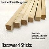 Vortex-RC 10MM Basswood Sticks 1000mm, 5 Sticks per Pack, Strong, Lightweight can be