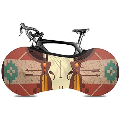 Olive Croft Ornamento étnico del cráneo del Toro del Vector en la Cubierta de la Bicicleta Cubierta de la Bicicleta Cubierta de la Bicicleta Cubierta de la Bicicleta Ajuste Casi Todas Las Bicicletas