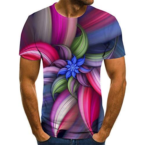 SSBZYES Camisetas para Hombre Camisetas De Manga Corta para Hombre Camisetas Estampadas para Hombre Sci-fi Coloridas Geométricas Camisetas Impresas Digitales En 3D Camisetas para