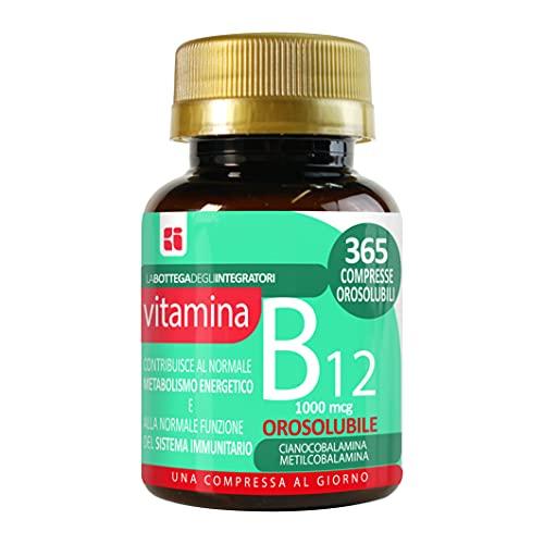 Vitamina B12 Masticabile 1000 mcg 365 compresse orosolubili 1 al dì | energia | sistema immunitario | cianocobalamina metilcobalamina | non di origine animale