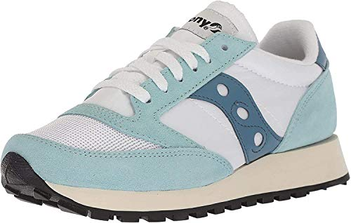 Saucony Jazz Original Vintage, Zapatillas de Cross para Mujer, Blanco (White/Blue 25), 36 EU