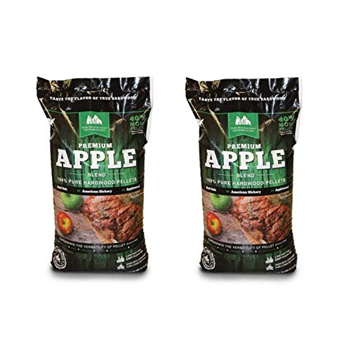 Green Mountain Grills Premium Apple Hardwood Grilling Cooking Pellets (2 Pack)