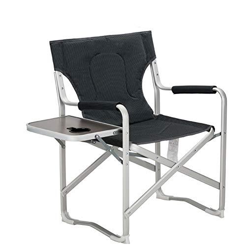 QIANGGAO Chaise Pliante, Portable d'extérieur avec élévation latérale Chaise de Plage Lounge Propriétaire Star Director Fauteuil de Bureau avec Sac d'isolation Chaise Confortable
