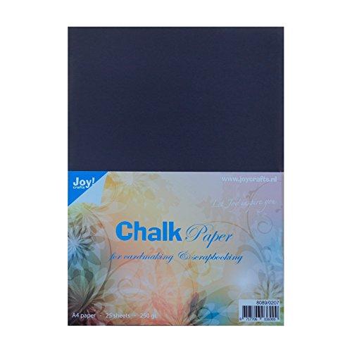 Joy!Crafts Kreide Papier Pack 25Blatt, A4, 250GMS, schwarz