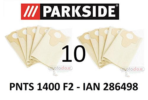 10 Parkside sacchetti per aspirapolvere PNTS 1400 F2 Lidl IAN 286498 US Dust Bags Collection 30 L, For Your Parkside Wet Dry Cleaner/Vacuum Cleaner PNTS 1400 F2 Lidl IAN 286498 US Version