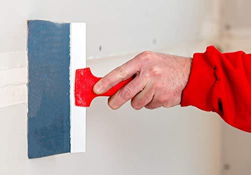 8-Inch Blue Steel Soft Grip Taping Knife - LEVEL5 | Pro-Grade | Metal Hammer End | 5-124