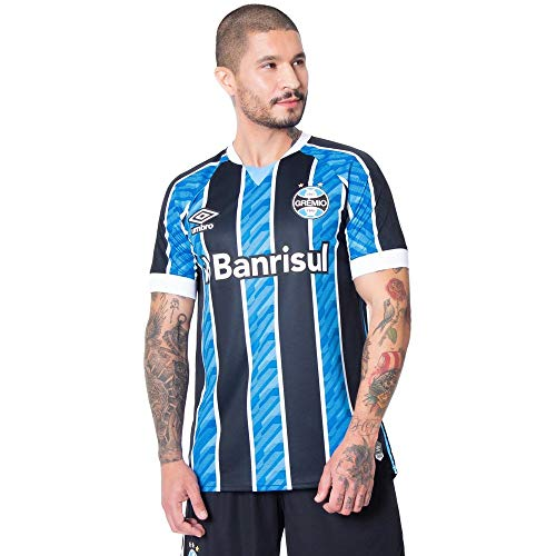 Camisa Masculina Umbro Grêmio Oficial 1 2020 S/N Azul/Preto - 2GG