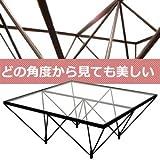 ルネセイコウ ダイニングテーブル クリア 本体:W80×D80×H35cm