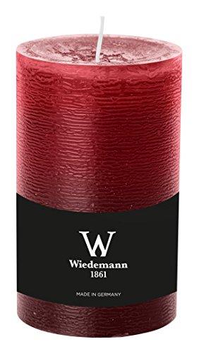 Wiedemann 281008.067 Marble Kerze durchgefärbt ASF, Wachs, Rot, 13 x 7.8 cm, 8-Einheiten