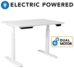A HEALTHIER WAY TO WORK: Feeling the pain from sitting all day at work? Reduce pain and improve your overall health with our electric standing desk frame. Burn calories and boost productivity by sitting and standing throughout the day. EASY HEIGHT AD...