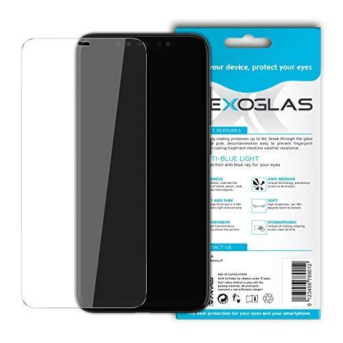 Flexoglas Película Mi 8 Lite Cristal Templado Xiaomi Mi 8 Lite Flexible Filtro Luz Azul Cristal Xiaomi Mi 8 Lite Protección Pantalla Protectora Compatible con Mi8 Lite