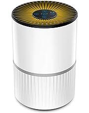 Luchtreiniger voor Thuis met HEPA-Combifilter & Actieve Koolfilter, 4-Traps Filter voor 99,97% Filterprestatie, Luchtreiniger voor Allergieën, Slaapkamers, Rokers, Hooikoorts, Pollen, Huidschilfers van Huisdieren en Stof
