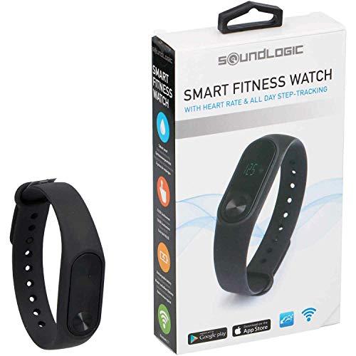 Soundlogic Smart OLED Bluetooth Fitness Uhr mit Herzfrequenz-Messgerät Wasserdicht Fitness Armband Smartwatch