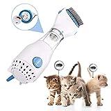 NEWFEIBIN Anti Piojos para Mascotas Peines, Eléctrico Piojos Tratamiento con Eliminación De Piojos Peine Pulga para Perros Suministros para Mascotas