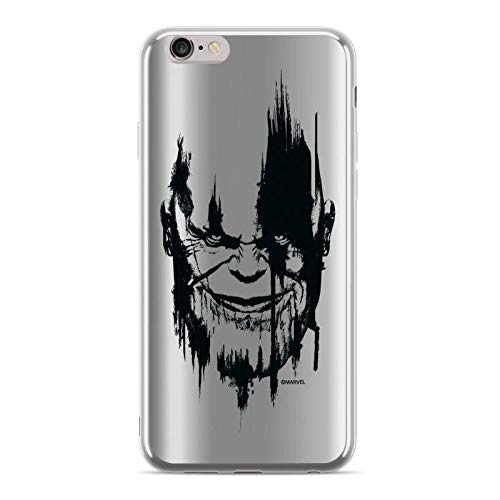 Finoo – Funda para teléfono móvil Compatible con iPhone 6 Plus/6S Plus – Marvel Carcasa con diseño y protección óptima TPU Silicona Funda Case Cover – Thanos V2
