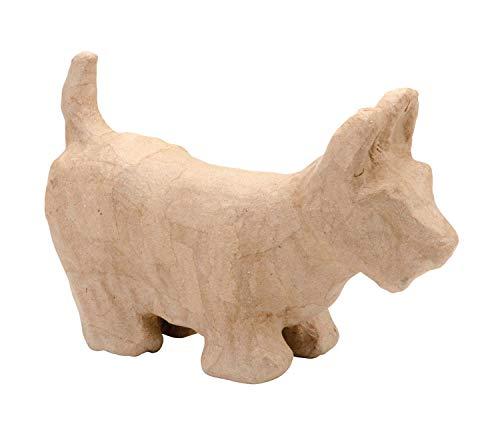Décopatch AC394O letter fantasie van papier-maché, 5 x 22 x 23 cm, om te versieren, ideaal voor uw woondecoratie, kartonbruin Schotse hond ca. 23 x 14,5 x 8 cm 23 X 8 X 14,5 Cm
