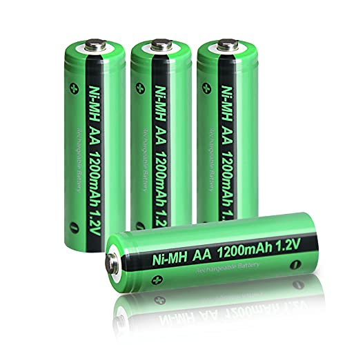 AA Rechargeable Battery 1.2V Nimh 1200mAh Button Top Battery 4Pcs
