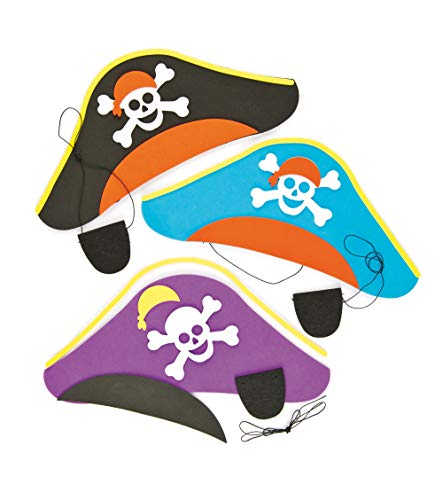 Pirate fancy dress hats and eye patches