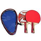 Lixada Kit de Raqueta de Tenis de Mesa 2 Asas + Una Bolsa de Almacenamiento