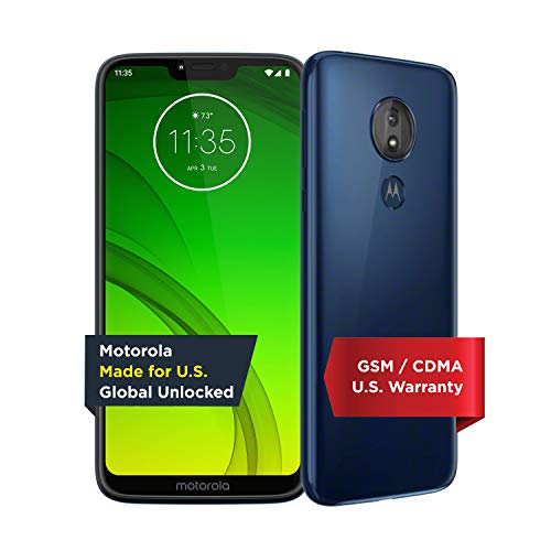 Motorola Moto G7 Power - Unlocked - 32 GB - Marine Blue (US Warranty) - Verizon, AT&T, T-Mobile, Sprint, Boost, Cricket, & Metro