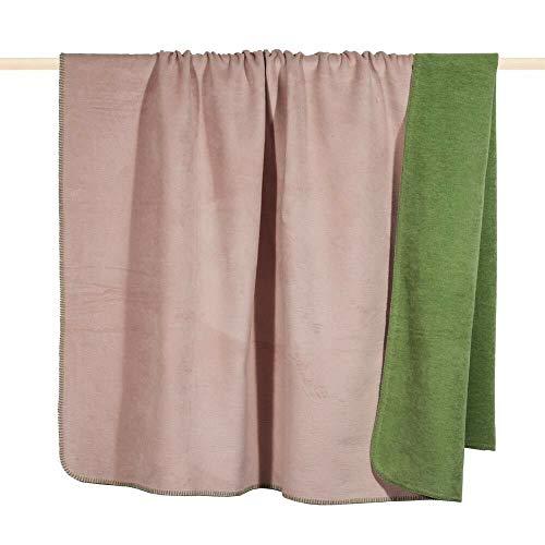 Pad - Decke - Kuscheldecke - Wendedecke - Hobart - Dusty pink/rosa - 150 x 200 cm